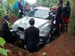 Nigerian man reportedly buries his father in BMW