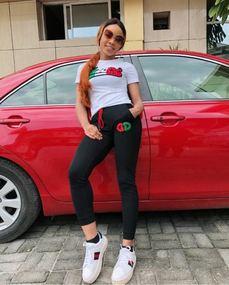 Nina shares lovely photos of herself with her new car