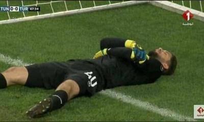 Tunisia goalkeeper 'fakes' injury during World Cup warm-up so his team-mates can break Ramadan fast
