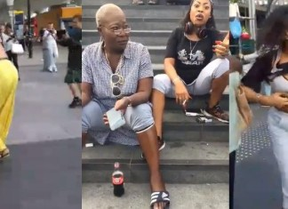 Two Nigerian women fight and strip off their clothes in London,