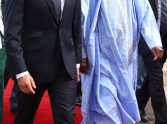 French president Emmanuel Macron who is in Nigeria on a 2-day working visit was welcomed at the State House by president Buhari. While here, Macron will pay a visit to the celebrated African shrine in Lagos