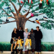 Madonna pictured with her 6 children as they visit Malawi