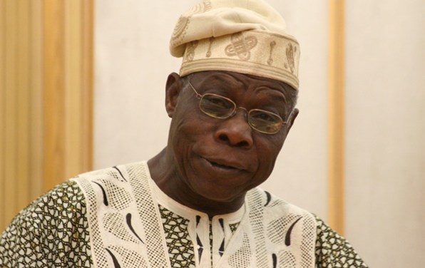 Obasanjo makes surprise appearance at PDP rally