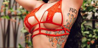 Blac Chyna flashes more skin on red underwear (photos/Video)