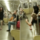Old man confronts couple attempting to have sex on a train,