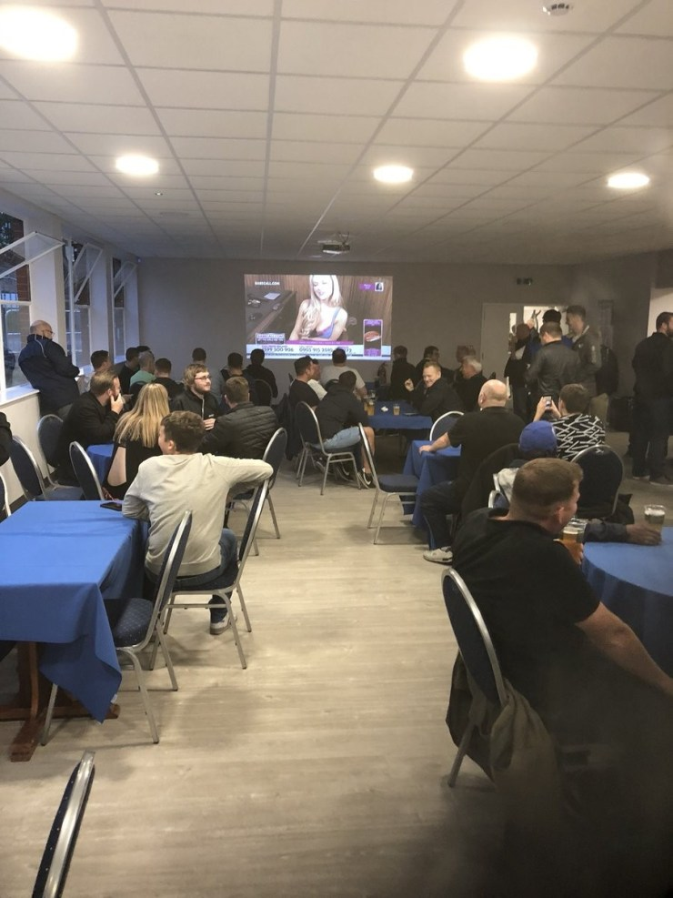 English club Bristol Rovers accidentally screen Porn station at half-time of Carabao Cup clash with Crawley Town (Photos/Video)