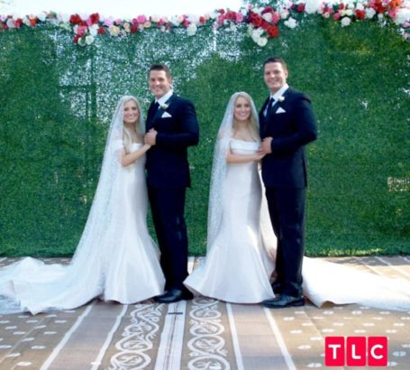 Twin sisters marry twin brothers in twinsburg town, by twin ministers