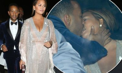 Chrissy Teigen and John Legend caught putting on VERY steamy display