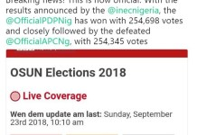 PDP claims victory in the 2018 Osun elections
