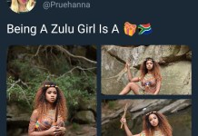South African lady goes nude to celebrate Zulu culture