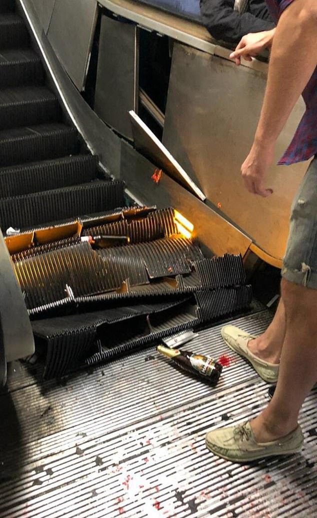 Over 20 people injured as escalator at Italian underground station loses control (Photos/Video)