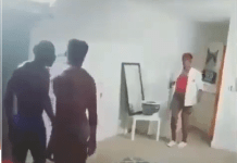 Mother suspecting her son of homosexual activity catches him with his partner kissing after installing a secret camera in his room (Video)