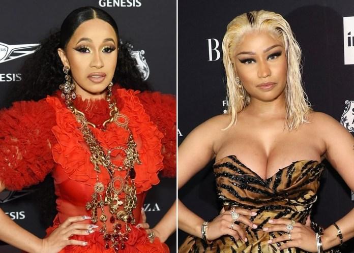Cardi B reportedly calls Nicki Minaj a 'Thot' that sleeps with everybody
