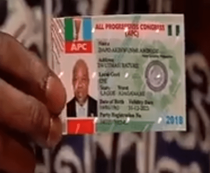 ''Ambode has refused to collect his membership card'' - Lagos APC chairman says (video)