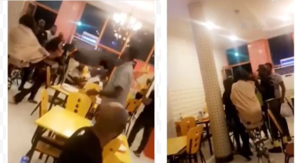 Half-naked ladies fight dirty at Mega Chicken in Lagos over photos