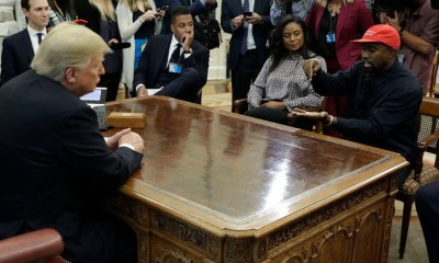"Kanye West tells Donald Trump that wearing the MAGA hat makes him feel ""like Superman"""