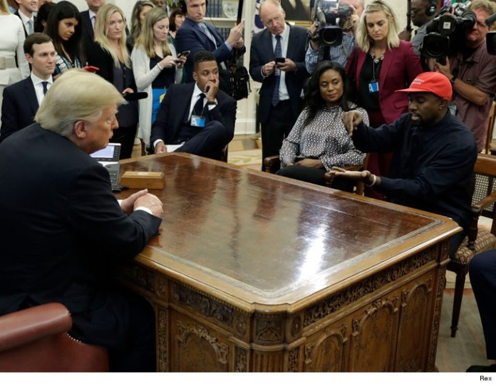 Kanye West tells Donald Trump that wearing the MAGA hat makes him feel
