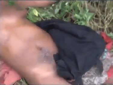 Woman found naked and in pain close to a church in Edo state (video