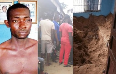 Police exhume body of lady killed and buried by her boyfriend in Rivers