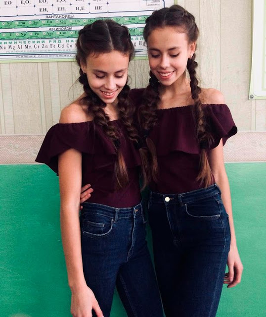 Photos: 14-year old twin sisters fighting to stay alive after losing so much weight because of modelling school