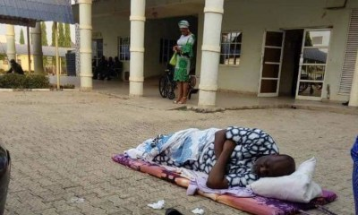 Senator Dino Melaye slept outside the DSS hospital after he was moved there by police personnel. The Senator representing Kogi West