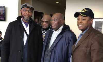 Atiku, Saraki arrives US