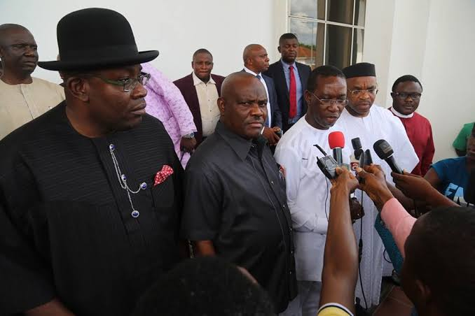 CJN Walter Onnoghen - An emergency meeting of the governors of the states of the South South geopolitical zone, held at the Bayelsa State