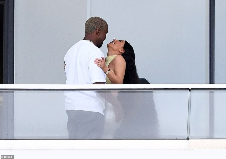 Kim Kardashian and Kanye West pack on the PDA at the $14m Miami condo they just bought (Photos)
