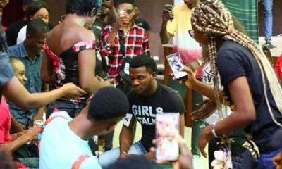 BBNaija contestant proposes to his girlfriend at the Lagos audition venue