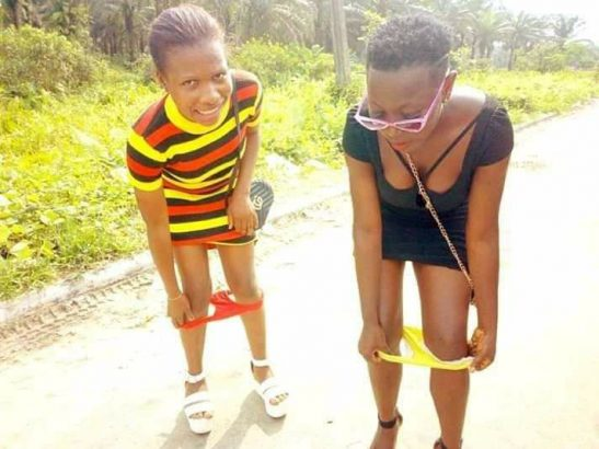 Two ladies reportedly pull down their pants to mock Yahoo boys