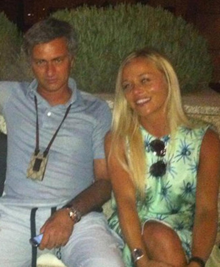 Jose Mourinho makes rare public outing with his wife after his 'secret friendship' with a blonde lady is revealed