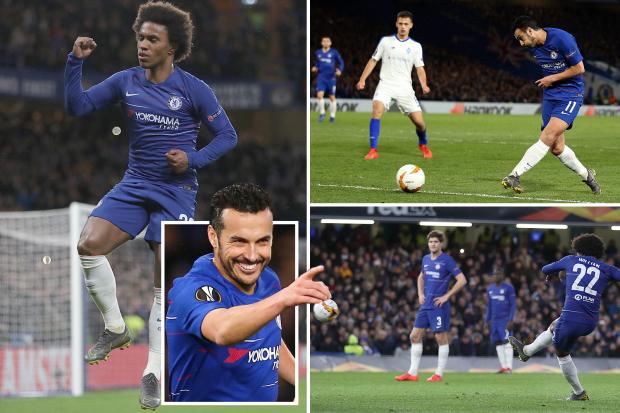 Chelsea beat Dynamo Kiev to out a foot in Europa League quarter final