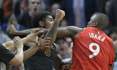 Serge Ibaka and Marquese Chriss exchange punches as fight breaks out during NBA clash