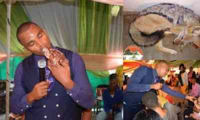 Pastor kills eats animal raw during church service in Botswana