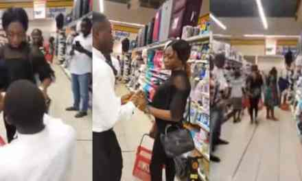 Nigerian girl walks out on her boyfriend after he surprised her with a proposal (Video)