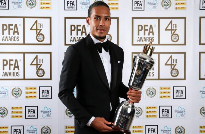 Sterling, Van Dijk win PFA awards