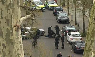 Police shoot car after it deliberately rams Ukrainian ambassador's vehicle in London