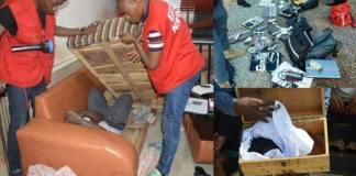 32 suspected Yahoo Boys hiding inside chairs