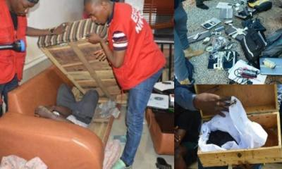 32 suspected Yahoo Boys hiding inside chairs