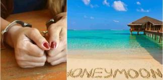 female fraudster arrested while on honeymoon