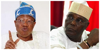 Atiku calls for the arrest of Lai Mohammed
