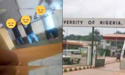 UNN lecturer asks students to kneel down and raise their hands