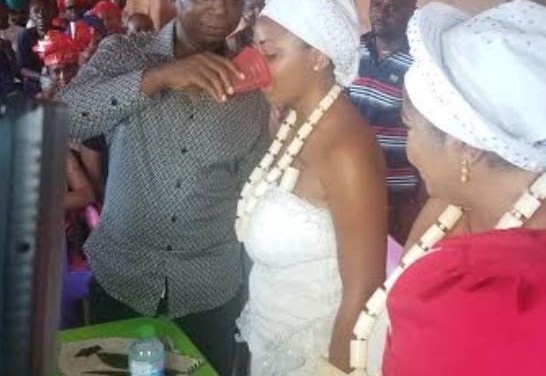 Photos of Regina Daniels' induction into 'married women group as wife of Ned Nwoko