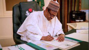 Buhari signs AFCFTA