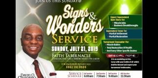 Winners' Chapel Live Service 21 July 2019