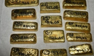 $5M worth of gold seized by UK police at London's Heathrow Airport from a suspected South American drugs cartel