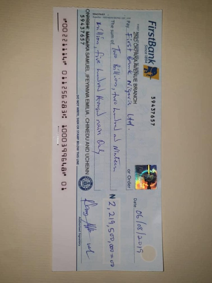 Peace Mass Transit Chairman returns over N2.2bn wrongly credited to his account