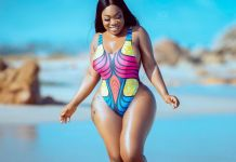 Curvy actress Moesha Boduong shares more swimsuit photos