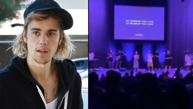 Justin Bieber leads worship at church service
