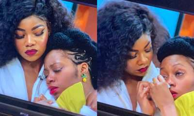 BBNaija 2019: Khafi breaks down in tears after Gedoni gets evicted